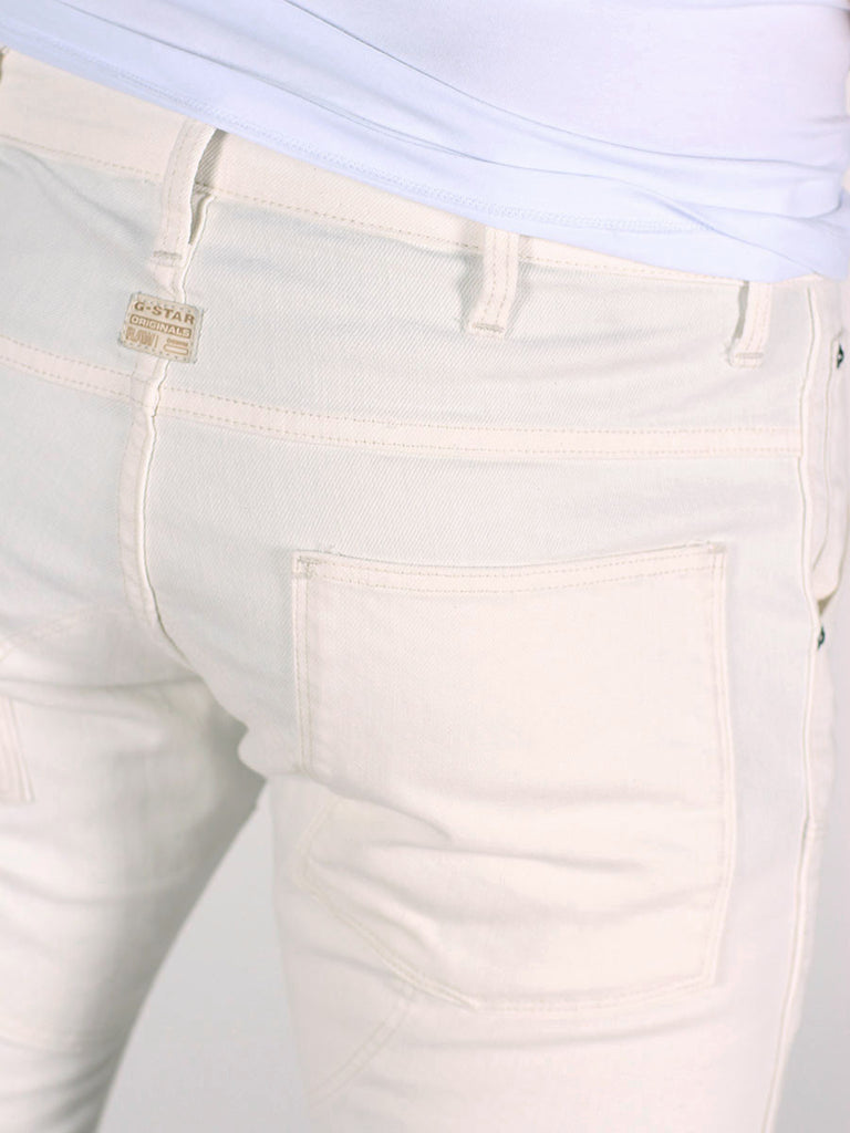 G-STAR ELWOOD 3D SUPER SLIM JEANS IN INZA WHITE  - 5