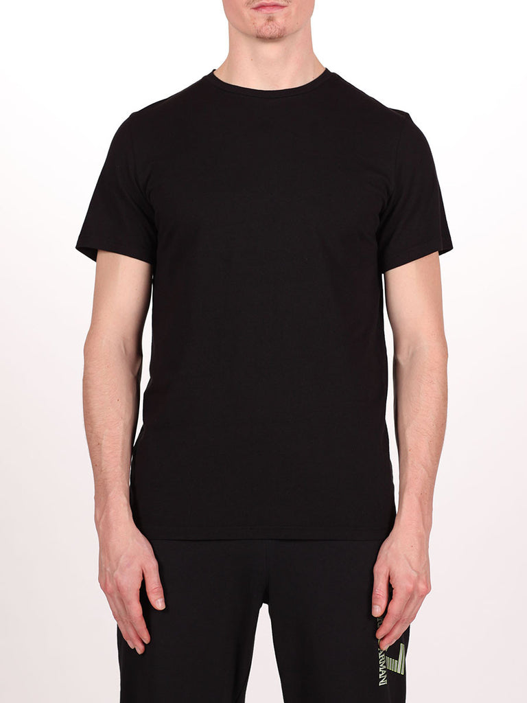 WORKSHOP PREMIUM CREWNECK T-SHIRT IN BLACK  - 1
