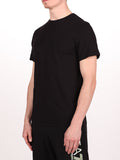 WORKSHOP PREMIUM CREWNECK T-SHIRT IN BLACK  - 2