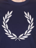 FRED PERRY OVERSIZED LOGO T-SHIRT IN NAVY  - 4
