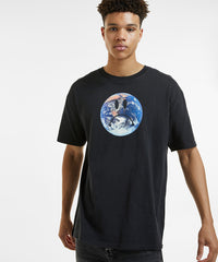 KSUBI PLANET T-SHIRT IN TRU BLACK