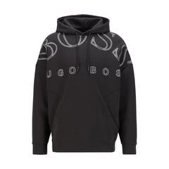 BOSS SLY HOODED PULL-OVER SWEATSHIRT IN BLACK