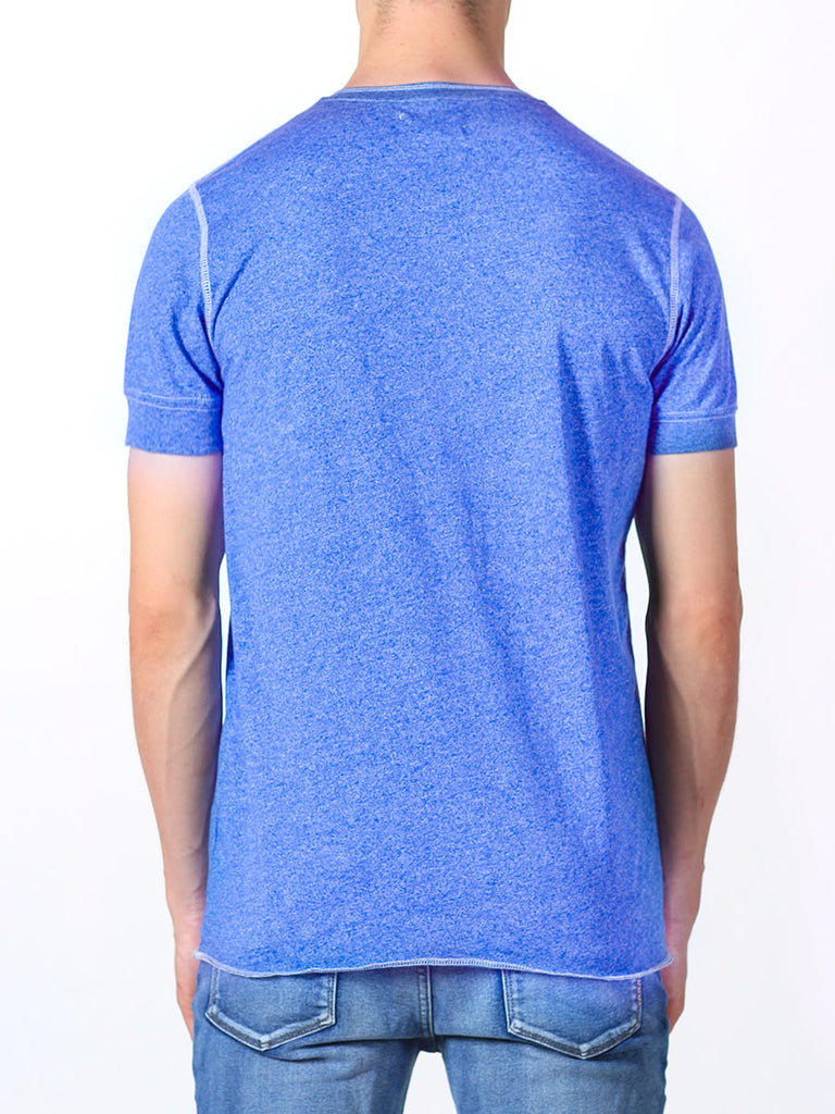 WORKSHOP SHORT-SLEEVE HENLEY IN INDIGO  - 3