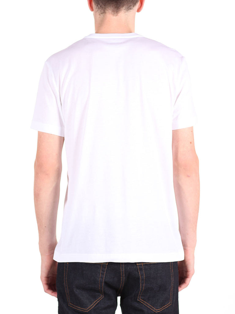 LACOSTE LOGO V-NECK T-SHIRT IN WHITE  - 3