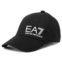 EA7 LOGO CAP IN BLACK