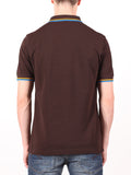 FRED PERRY SLIM FIT TWIN TIPPED SHIRT IN DARK CHOCOLATE  - 3