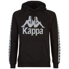 KAPPA DURTADO PULL-OVER HOODIE IN BLACK/SILVER