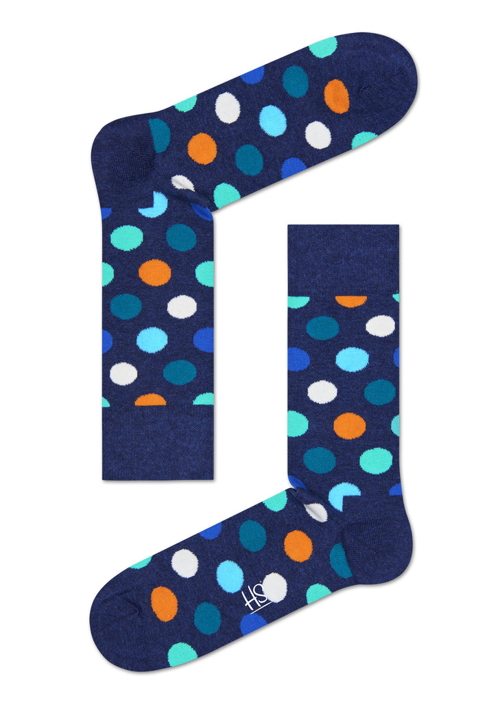 HS BIG DOT SOCK IN BLUE