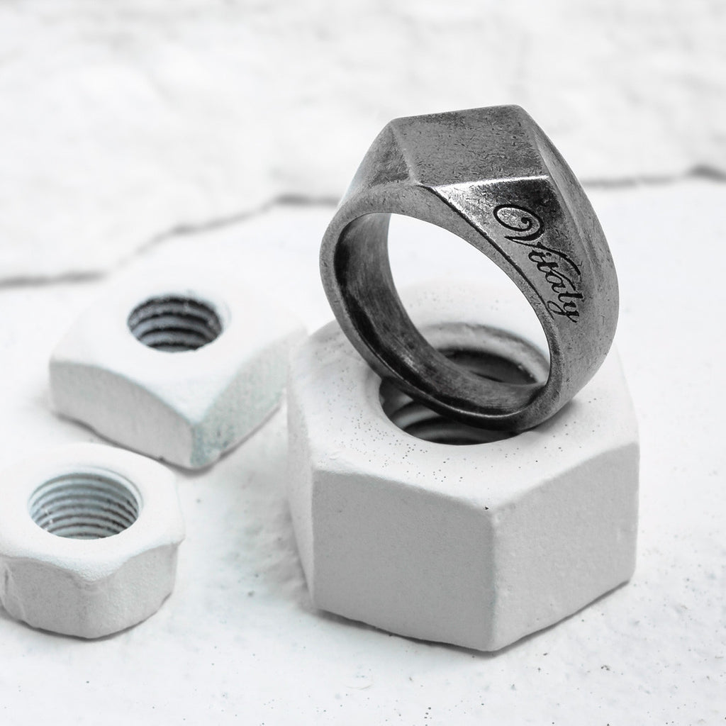 VITALY BERLIAN RING IN STEEL  - 1