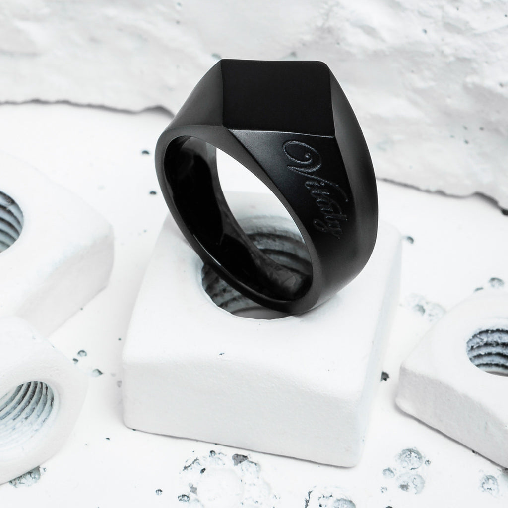 VITALY BERLIAN RING IN MATTE BLACK  - 1
