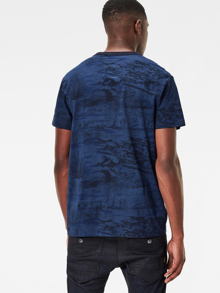 Best Streetwear Brands and Urban Style G-star Durit T-shirt in Imperial Blue Back