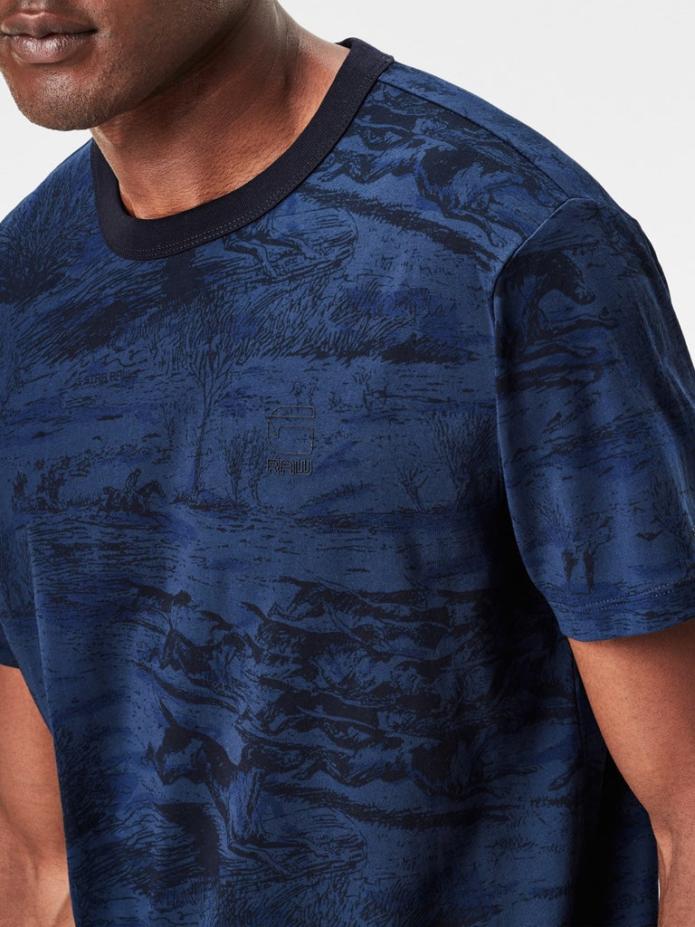 Best Streetwear Brands and Urban Style G-star Durit T-shirt in Imperial Blue Detail 1