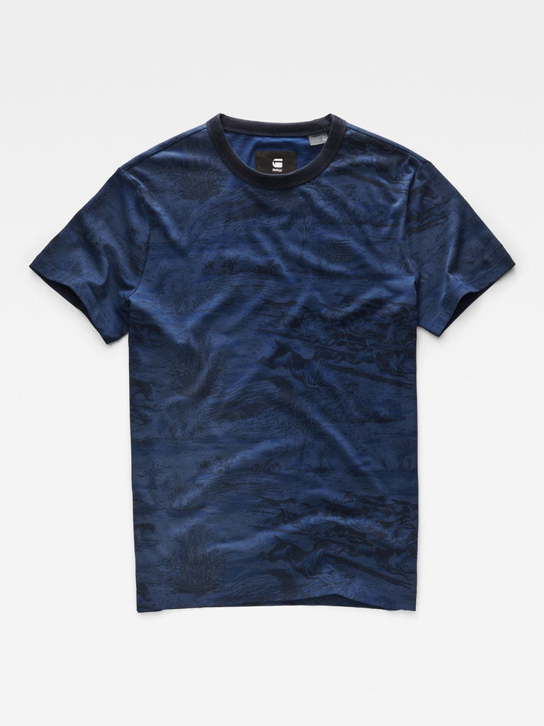 Best Streetwear Brands and Urban Style G-star Durit T-shirt in Imperial Blue Flat