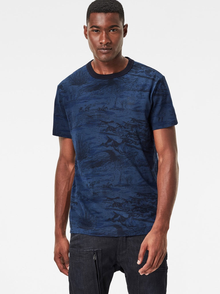 Best Streetwear Brands and Urban Style G-star Durit T-shirt in Imperial Blue Front