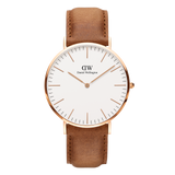 Best Watch Shop BoysCo Watch Store Smart Casual Business Attire for Men Daniel Wellington Classic Durham Watch with Rose Gold Front