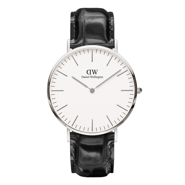 Best Watch Shop BoysCo Watch Store Smart Casual Business Attire for Men Daniel Wellington Classic Reading Watch with Silver Front