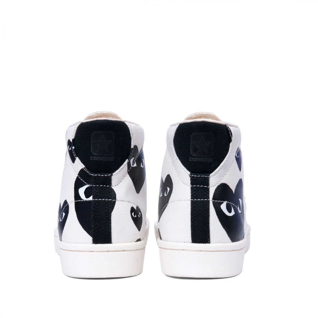 PLAY X CONVERSE PRO LEATHER HIGH-TOP SNEAKERS IN CREAM  - 3