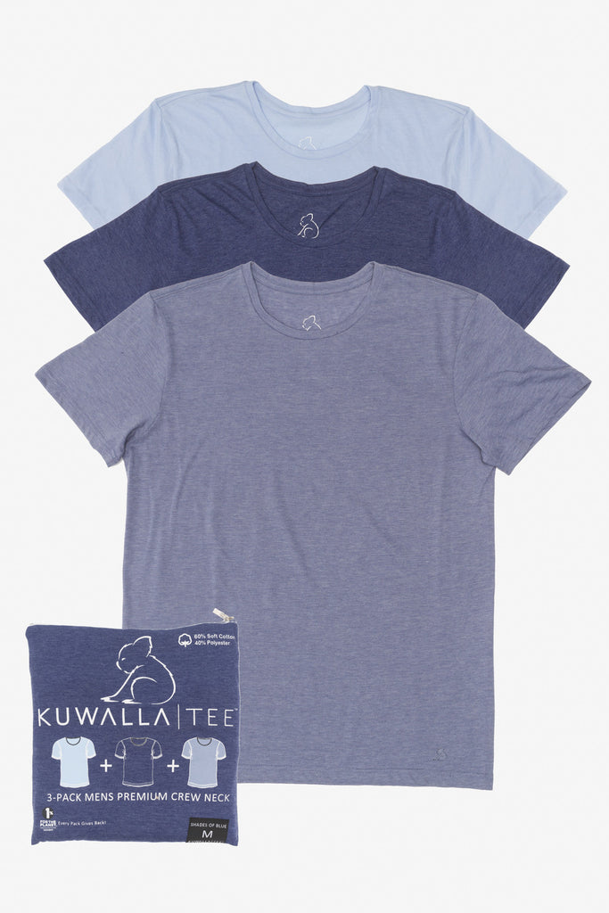 KUWALLA TEE CREW-NECK T-SHIRT 3-PACK IN SHADES OF BLUE  - 1