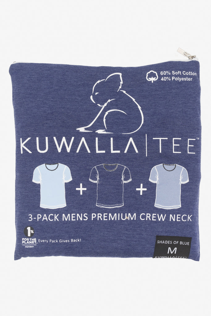 KUWALLA TEE CREW-NECK T-SHIRT 3-PACK IN SHADES OF BLUE  - 6