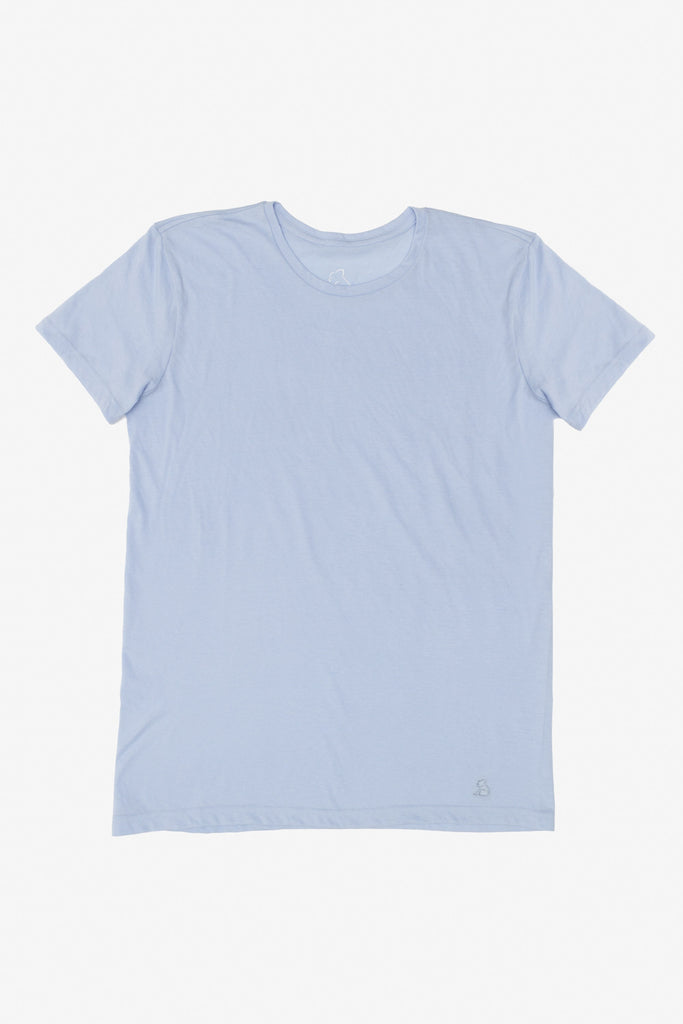 KUWALLA TEE CREW-NECK T-SHIRT 3-PACK IN SHADES OF BLUE  - 4