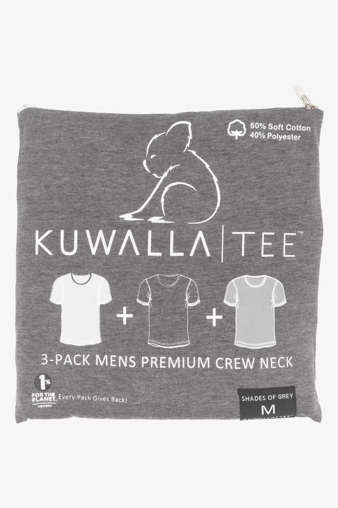KUWALLA TEE CREW-NECK T-SHIRT 3-PACK IN SHADES OF GREY  - 6