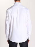 Casual Mens Fashion and West Coast Style Workshop Medium Weight Oxford Button Down Shirt in White Back