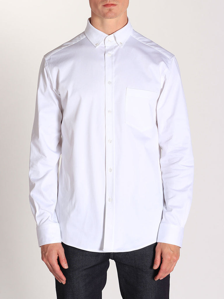 WORKSHOP MEDIUM WEIGHT OXFORD BUTTON DOWN SHIRT IN WHITE