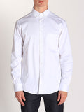 Casual Mens Fashion and West Coast Style Workshop Medium Weight Oxford Button Down Shirt in White Front