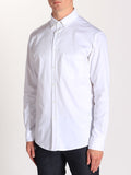 Casual Mens Fashion and West Coast Style Workshop Medium Weight Oxford Button Down Shirt in White Side