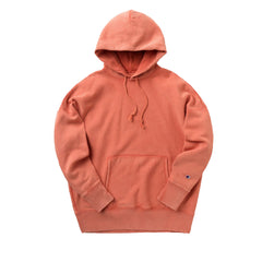 CHAMPION REVERSE WEAVE GARMENT DYED PULL-OVER HOODIE IN AMBITIOUS ORANGE