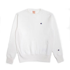 CHAMPION REVERSE WEAVE CREW NECK SWEATSHIRT IN WHITE