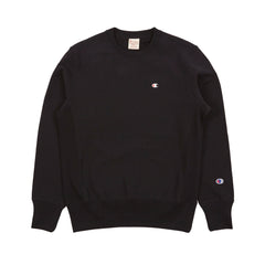CHAMPION REVERSE WEAVE CREW NECK SWEATSHIRT IN BLACK