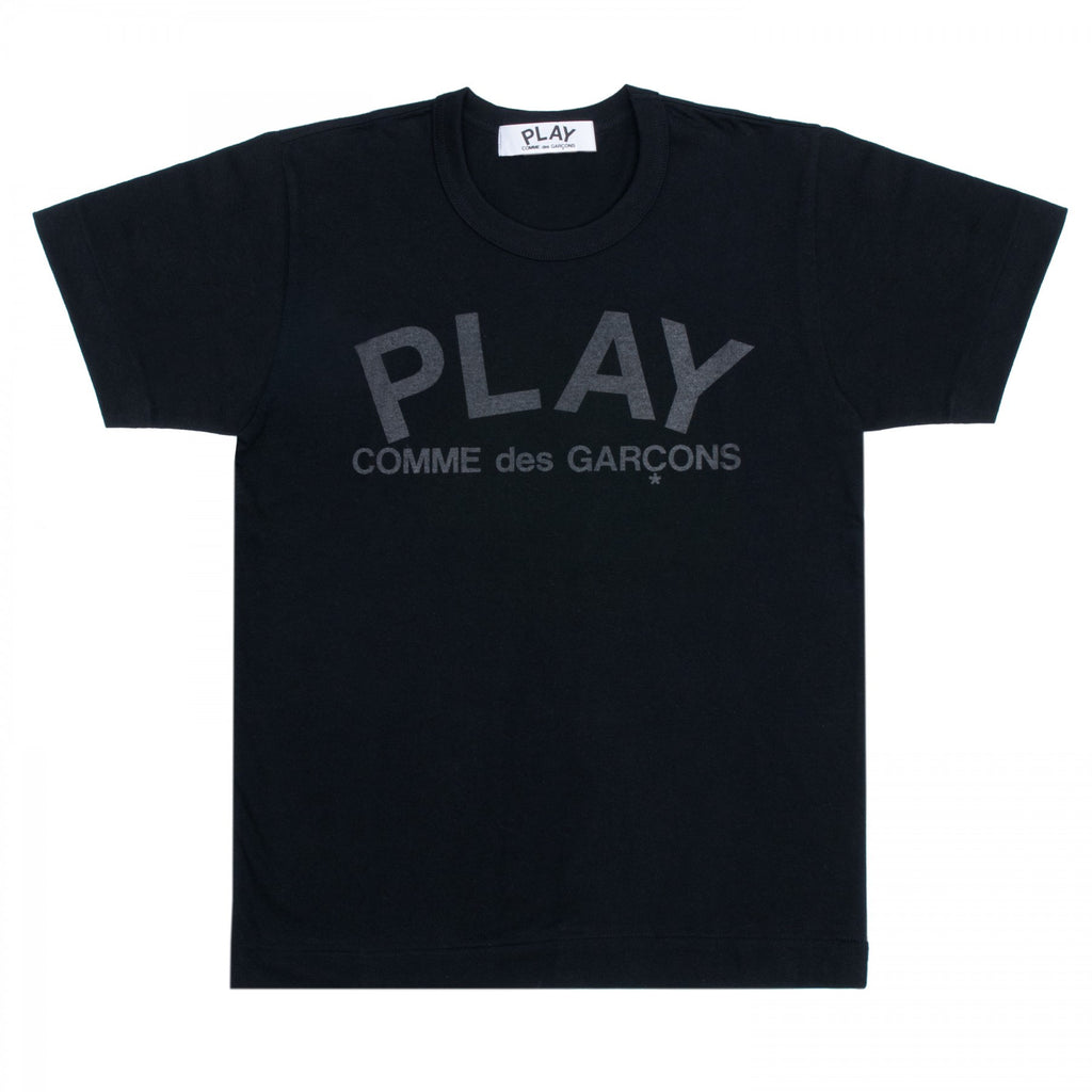 COMME DES GARCONS PLAY T-SHIRT IN BLACK WITH DOUBLE-SIDED BLACK PLAY LOGO PRINT  - 2