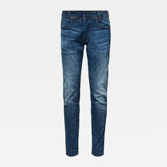 G-STAR D-STAQ SLIM JEANS IN MEDIUM INDIGO AGED