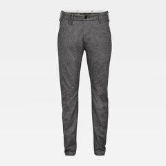 G-STAR VETAR SLIM CHINO IN CHARCOAL/DARK BLACK DOBBY
