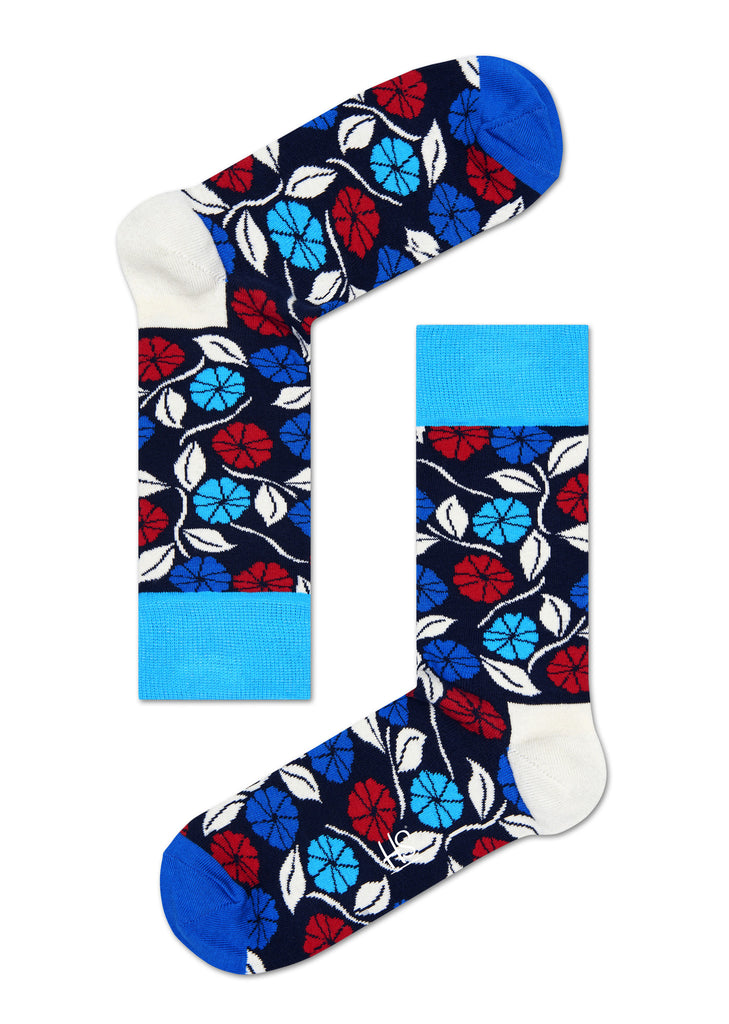 HS DESERT FLOWER SOCK IN BLUE