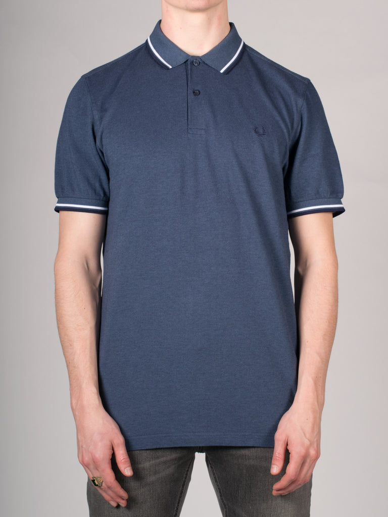 FRED PERRY SLIM FIT TWIN TIPPED SHIRT IN LAKE OXFORD  - 1