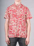WORKSHOP COTTON SHORT SLEEVE SHIRT IN ABSTRACT PRINT  - 1