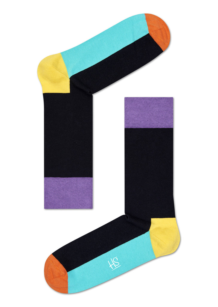 HS FIVE COLOR SOCK IN BLACK