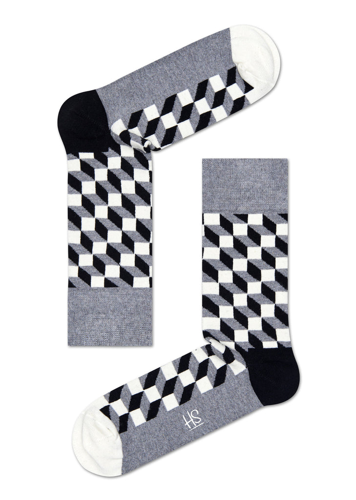 HS FILLED OPTIC SOCK IN GREY