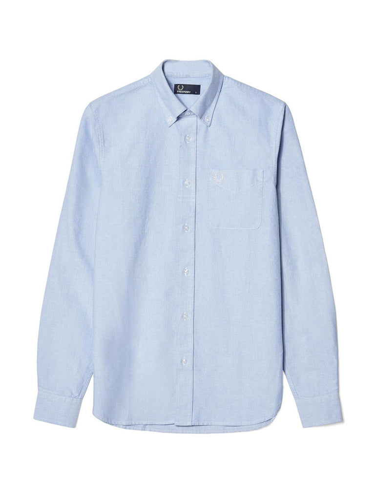 For a Smart Casual Dress Code - Fred Perry Classic Oxford Button Down Shirt in Light Smoke in mens dress shirt sizes S-L Flat