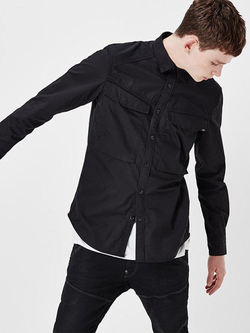 G-STAR VODAN STRAIGHT SHIRT IN BLACK  - 3