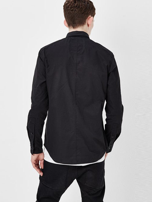 G-STAR VODAN STRAIGHT SHIRT IN BLACK  - 2