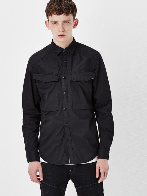 G-STAR VODAN STRAIGHT SHIRT IN BLACK  - 1