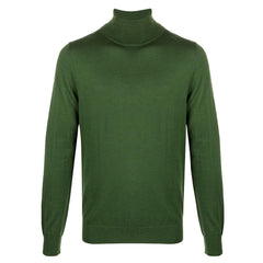 HUGO SAN ANTONIO 2 VIRGIN-WOOL TURTLENECK SWEATER IN DARK GREEN