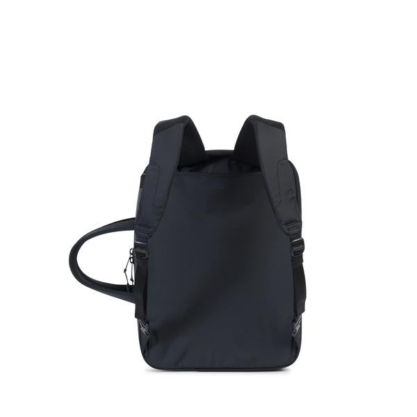 HERSCHEL SUPPLY CO. BRITANNIA MESSENGER BACKPACK IN BLACK  - 2