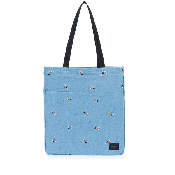Herschel Supply Co. X Disney Mickey Mouse Denim Packable Canvas Tote Bag  - 1