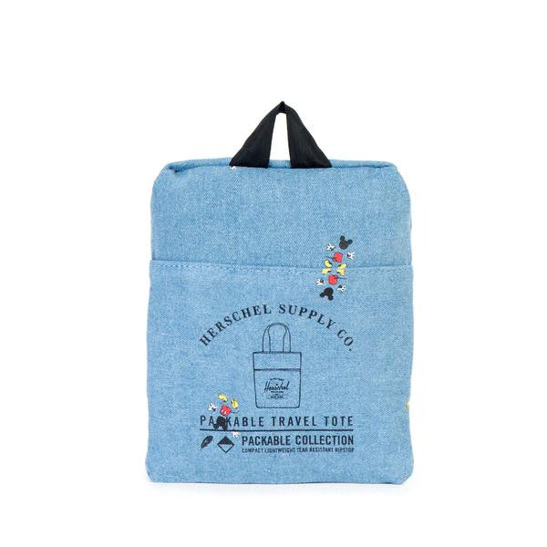 Herschel Supply Co. X Disney Mickey Mouse Denim Packable Canvas Tote Bag  - 2