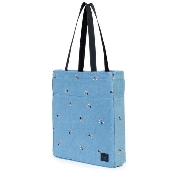 Herschel Supply Co. X Disney Mickey Mouse Denim Packable Canvas Tote Bag  - 3