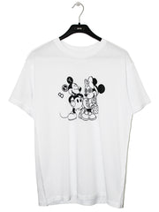 BOY LONDON BY SHANE GONZALES MOUSE T-SHIRT IN WHITE